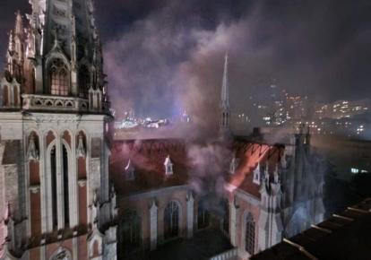 Пожар в костеле Святого Николая