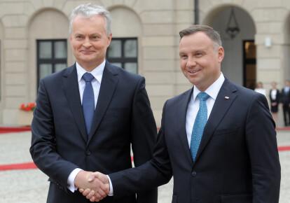 Президент Польши Анджей Дуда и президент Литвы Гитанас Науседа
