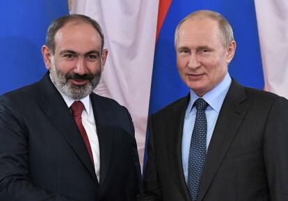 Нікол Пашинян і Володимир Путін