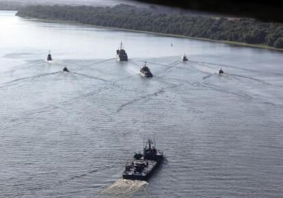 Военные учения на Дунае / пресс-центр ВМС Украины