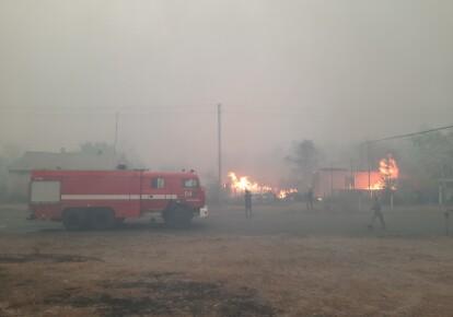 Последствия пожара на Луганщине