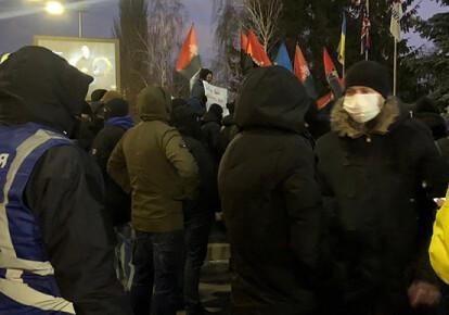 Акции протеста против пророссийских телеканалов в Украине