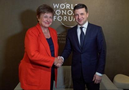 Владимир Зеленский с директором-распорядителем МВФ Кристалиной Георгиевой