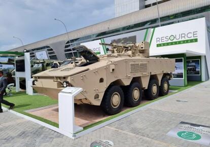 БТР-4МВ1 на выставке IDEX-2021 в Арабских Эмиратах