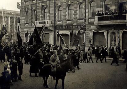 Томськ, Першотравнева хода, 1 травня (18 квітня) 1917 р.