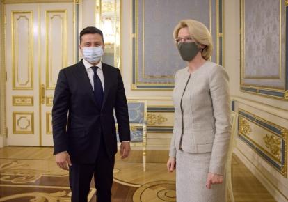 Владимир Зеленский и Инара Мурниеце