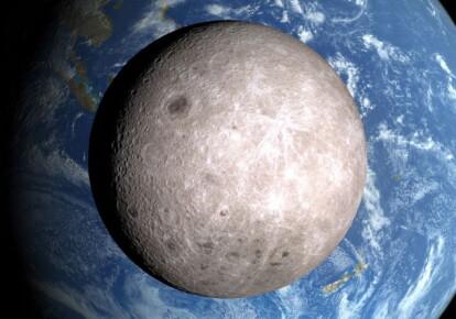 Луна и Земля, вид с космического корабля