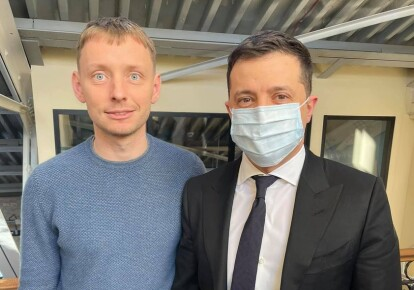 Олександр Кацуба і Володимир Зеленський