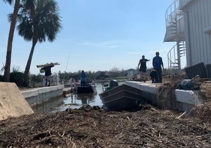 Последствия урагана в Луизиане. Фото: Twitter/WCK