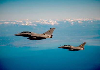 Истребители ВВС Франции Rafale