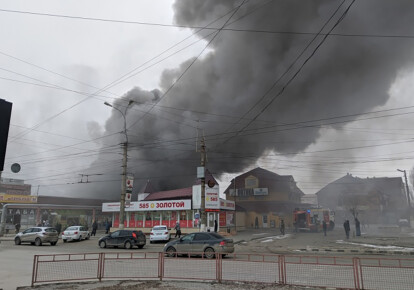 Пожар на Качинском рынке
