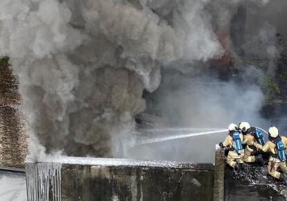 Пожар в Брюсселе