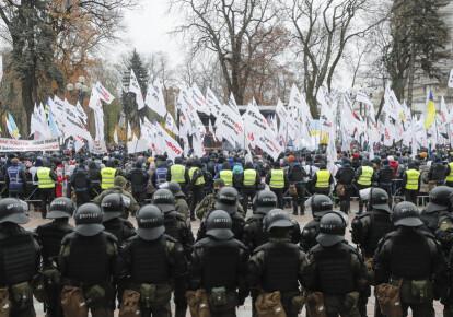 Предприниматели протестуют под Верховной Радой