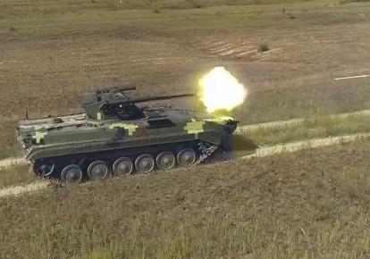 """БМП-1 с боевым модулем """"Спис"""" во время испытаний"""