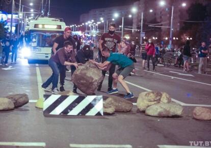 Вторая ночь беспорядков в Минске