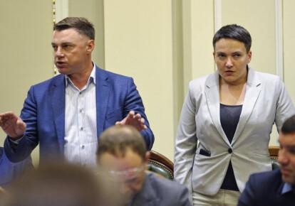Віталій Купрій і Надія Савченко на засіданні Погоджувальної ради. Фото: УНІАН