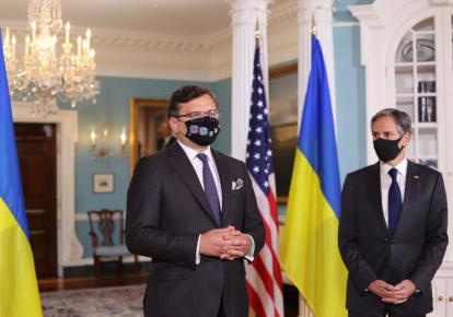 Глава МИД Дмитрий Кулеба и госсекретарь США Энтони Блинкен