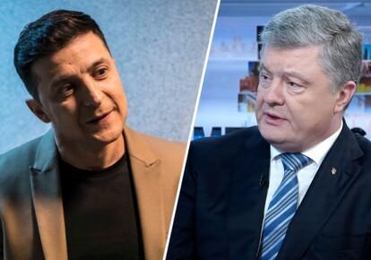 Кандидаты в президенты Петр Порошенко и Владимир Зеленский согласились провести дебаты. Фото: Getty Images