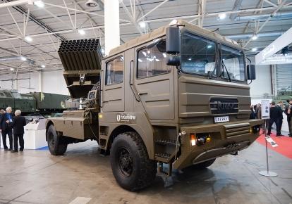 Модернізований БМ-21 «Град» на шасі КрАЗу