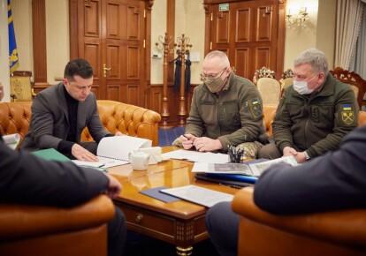 Совещание с Владимиром Зеленским