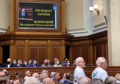 Виктор Шишкин и Степан Хмара на заседании парламента