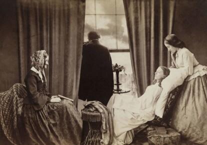 Угасание. Композиционная фотография Генри Пича Робинсона. 1858 год