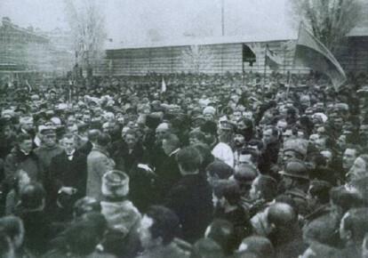 Віче на Софіївській площі в Києві 19 грудня 1918-го. Проголошення Декларації про відновлення УНР
