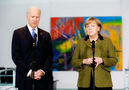Джо Байден и Ангела Меркель, 2013 г.