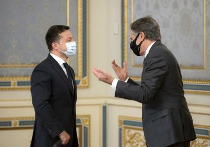Зустріч президента України Володимира Зеленського і держсекретаря США Ентоні Блінкена