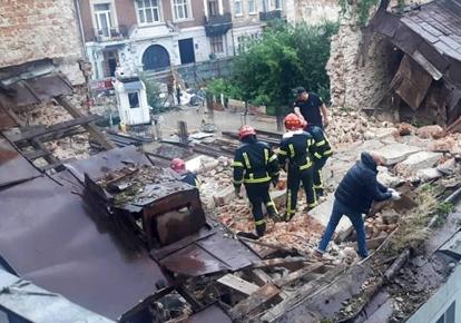 Обвалення будинку у Львові