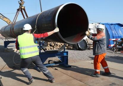 Строительство газопровода с российской стороны