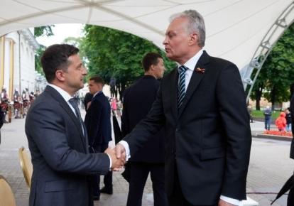Володимир Зеленський і Гітанас Науседа