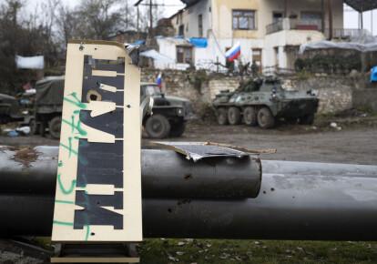 Блокпост российских миротворцев за пределами города Шуша, Нагорный Карабах, 22 ноября 2020 г.