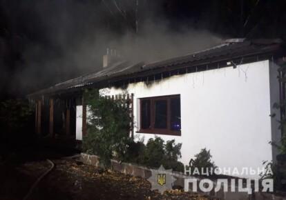 Камери спостереження зафіксували чоловіка, який підпалив будинок Гонтарєвої