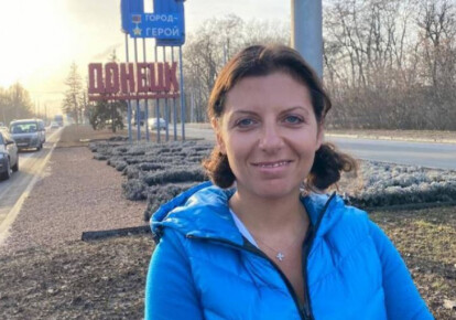 Пропагандистка Симоньян на Донбассе
