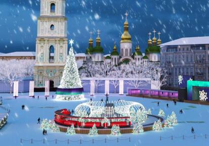 В Киеве начали устанавливать новогоднюю елку. Фото: facebook.com/FolkUkraine