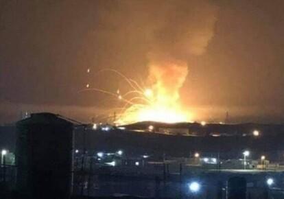 Взрывы и пожар в Иордании