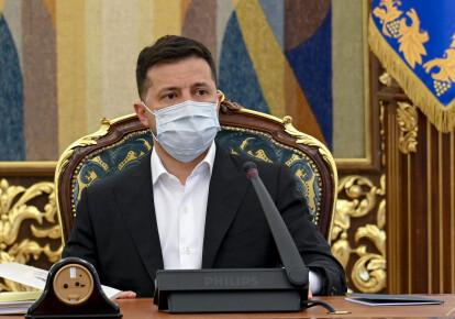 Владимир Зеленский на заседании СНБО 15 апреля 2021 г.