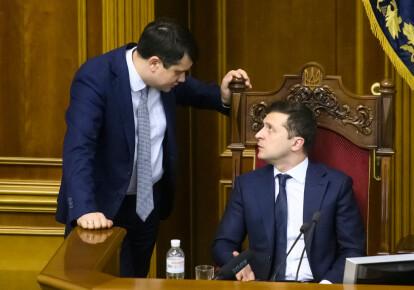 Дмитро Разумков і Володимир Зеленський