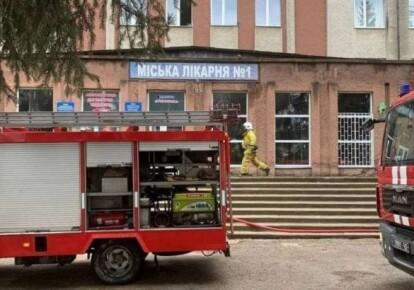 Пожар в городской больнице Черновцов