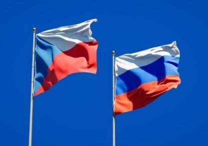 Прапори Чехії та Росії