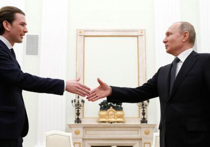 Себастиан Курц и Владимир Путин