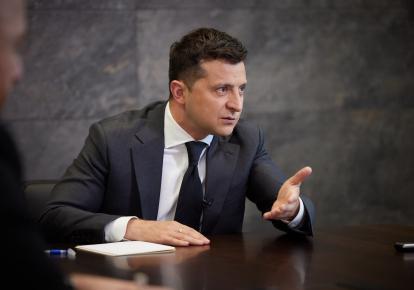 Владимир Зеленский во время совместного интервью Agence France-Presse, Reuters и Associated Press