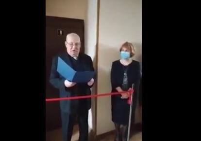 Відкриття жіночого туалету в Київському університеті телекоммунікацій