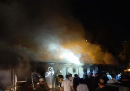 Пожар в больнице в Тетово