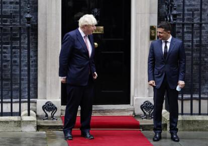 Володимир Зеленський зустрівся з прем'єр-міністром Великобританії Борисом Джонсоном у Лондоні