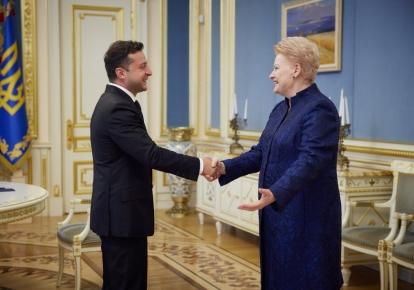 Владимир Зеленский и Даля Грибаускайте