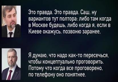 Предполагаемый телефонный разговор Вилкула с Сурковым