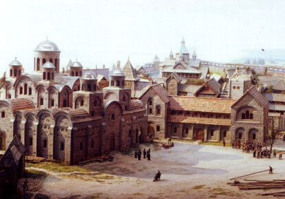 Фрагмент макета центральной части древнего Киева