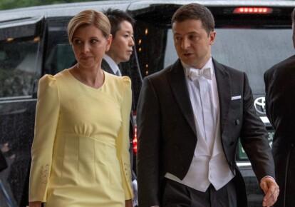 Владимир Зеленский с супругой Еленой во время визита в Японию. Фото: Getty Images
